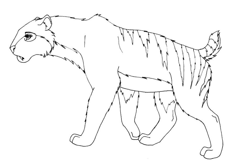 saber tooth tigers coloring pages - photo#22