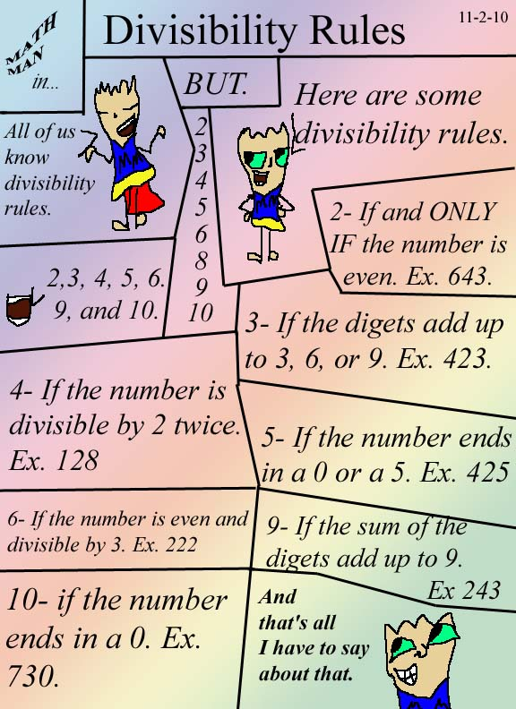 essay about divisibility rules