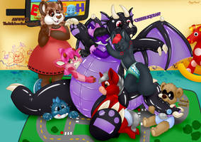 GROUP YCH The babyfurs get a new toy