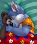 Stringz asleep by PoppyAndPascal
