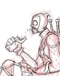 Deadpool and a friend by JonFreeman