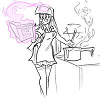 Twilight Sparkle practicing her culinary arts by JonFreeman
