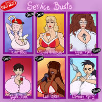 Service Busts - SOLD OUT by JonFreeman
