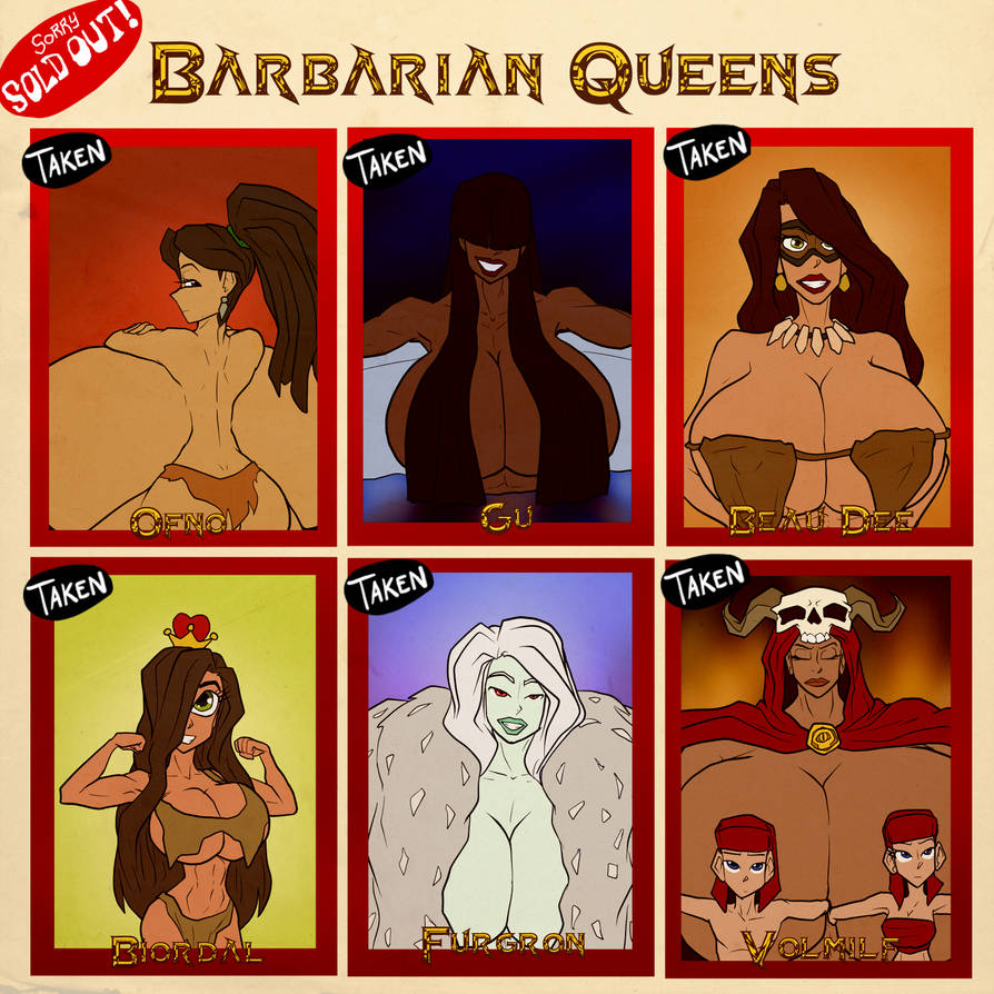 Barbarian Queens - SOLD OUT by JonFreeman