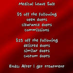 Medical Leave Sale - health update by JonFreeman
