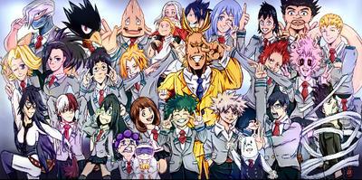 My Hero Academia Group Fan Art By Animesplash13 On Deviantart