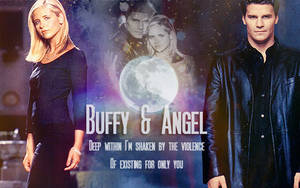 Buffy and Angel Banner by rafaboreanaz