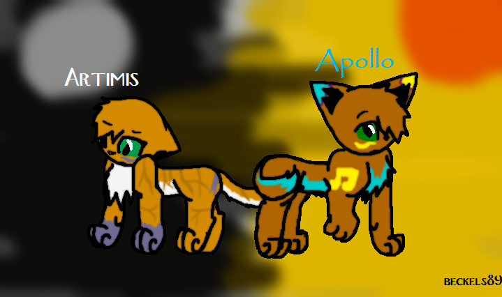 Artemis and Apollo by beckels89 on DeviantArt