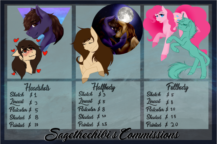 Commission Prices - OPEN by Sagethechibi
