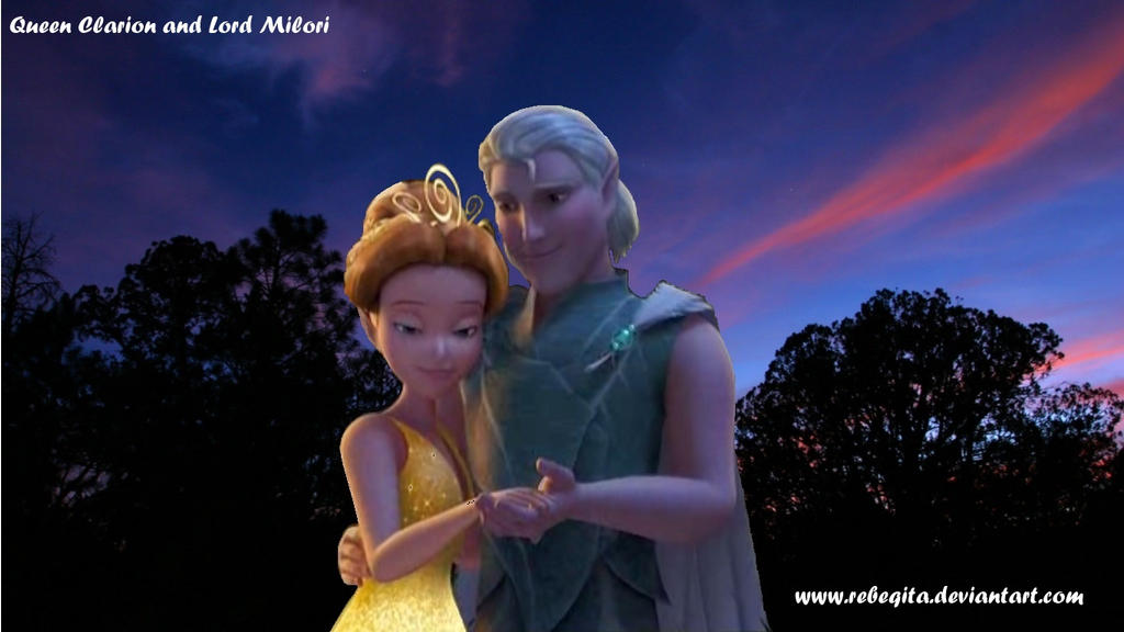 Queen Clarion and Lord Milori by rebeqitaLord Milori And Queen Clarion Kiss