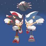 Sonic vs Shadow Inktober day 12