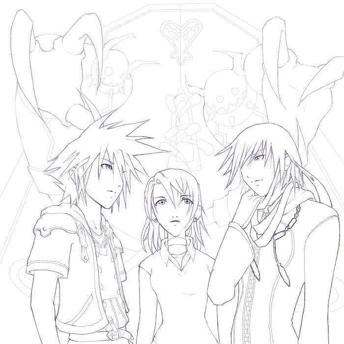 Kingdom Hearts Lineart : Kingdom hearts ii lineart t by akewataru on deviantart
