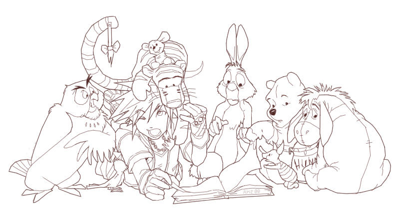 Kingdom Hearts Coloring Pages Miakenasnet
