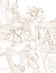 KH2 Lazyboys - Sora n' Roxas by akewataru
