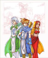 KH - Lord, Knight and Lady by akewataru