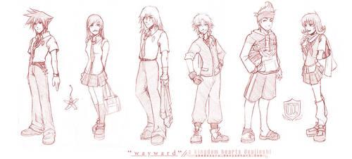 KH2 Doujinshi-Uniform Designs by akewataru