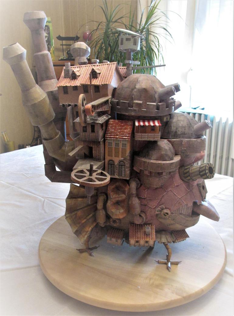 Papercraft Owl's moving Castle (Miyazaki) 3 by Judy25