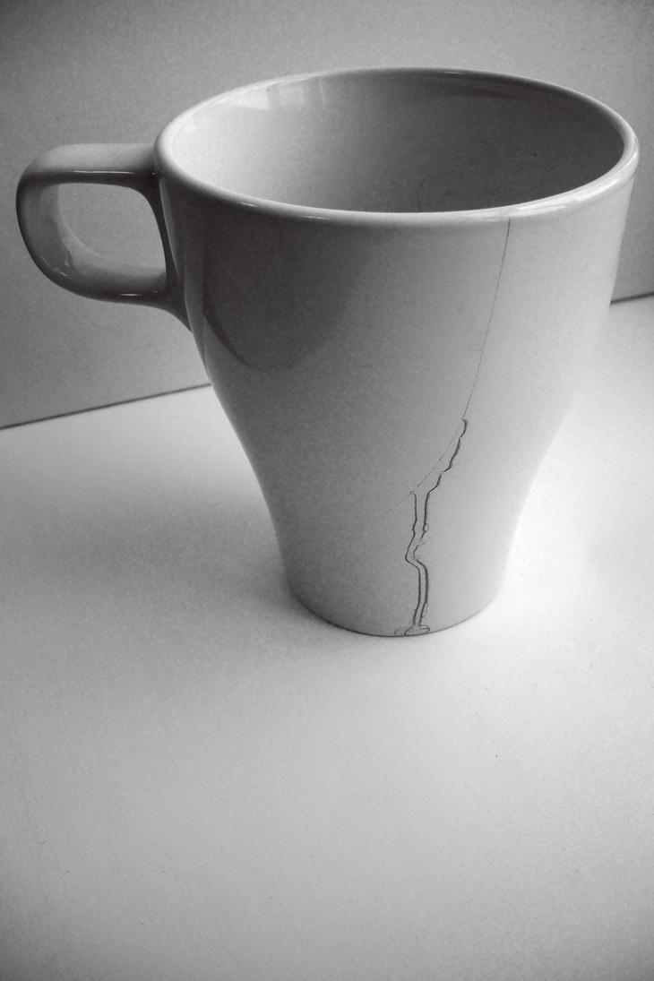 cracked coffee cup by mayurasana on deviantart