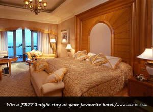 Win a 3 Night Stay at Your Favorite Hotel.