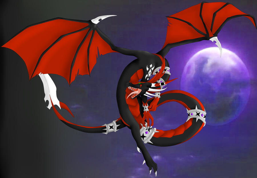 Evil Fire Dragon: Phoenix Fireheart-queen Of All Dragons-evil Form By