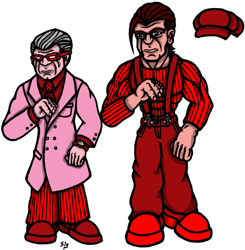 Dr. Strawman and Frank Barrius by slyvenom