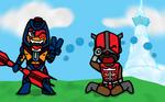 Man-E-Faces vs Zodak