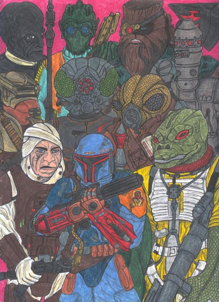 Star Wars Bounty Hunters by slyvenom