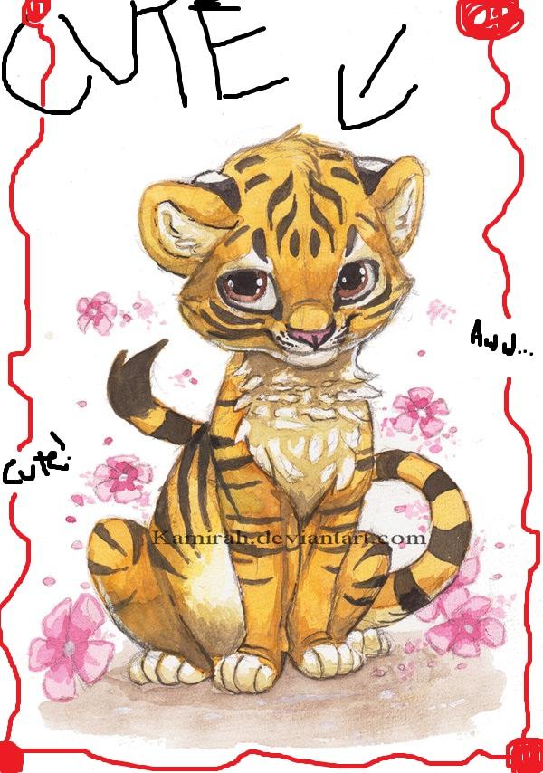 Tiger family drawing - photo#18