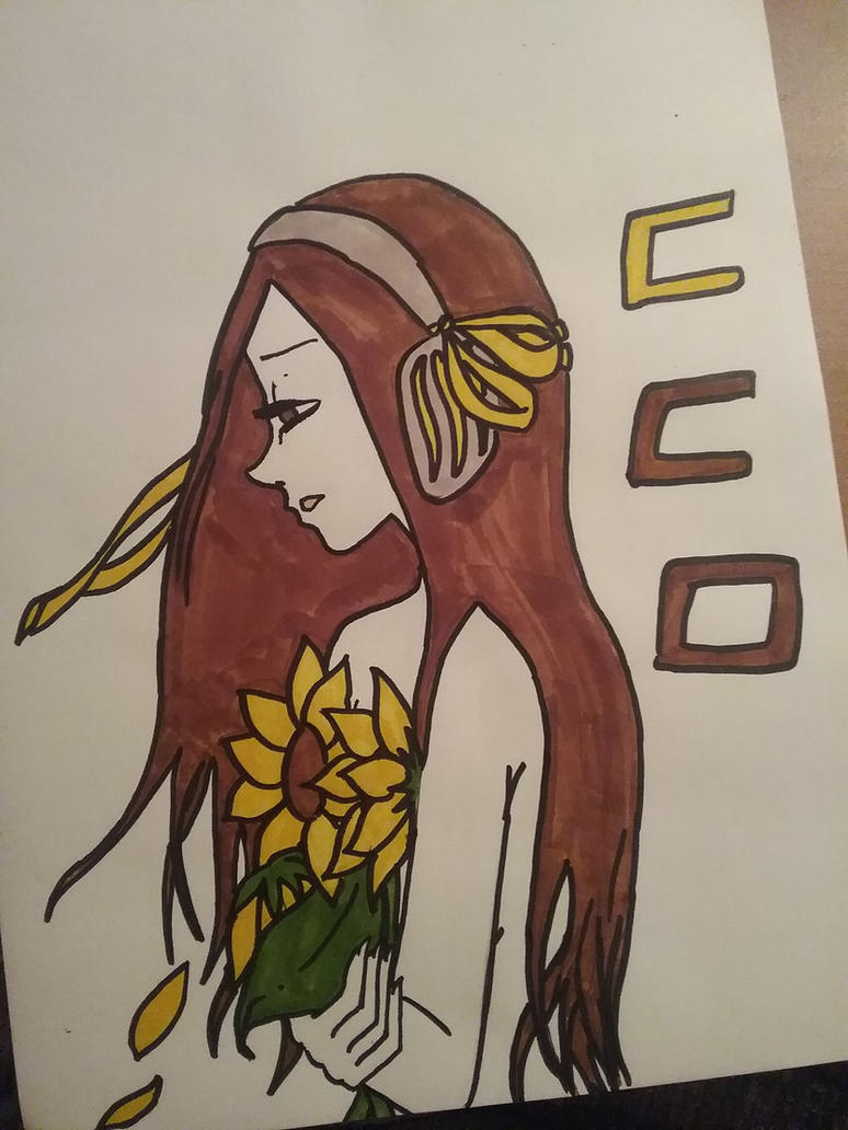 Malinche, the sunflower girl by mayen-chan