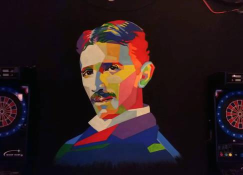 Nikola Tesla fresco