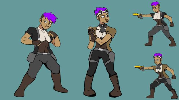Violet Concept Art - Space Pirates