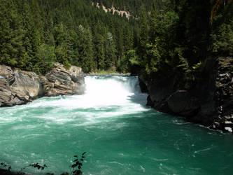 Rockies Waterfall by akrasiel-stock