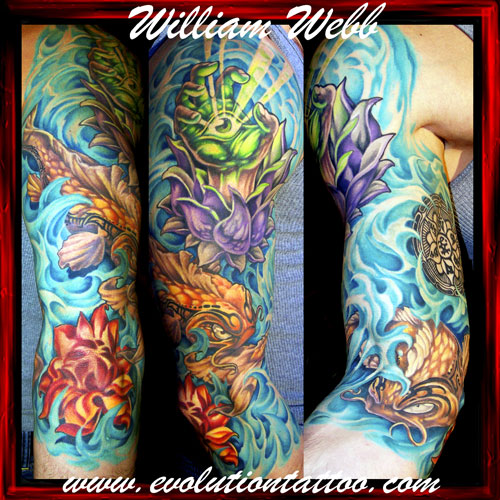 Koi Sleeve 1 - sleeve tattoo