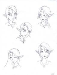 LR Zelda emotions. by LOZ-Elisrilianfan
