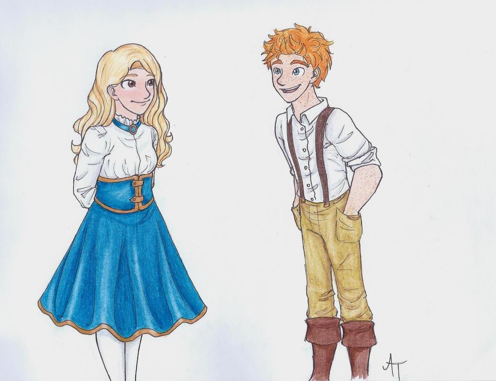 Rodger Tippits and Evelyn McFletcher by LOZ-Elisrilianfan