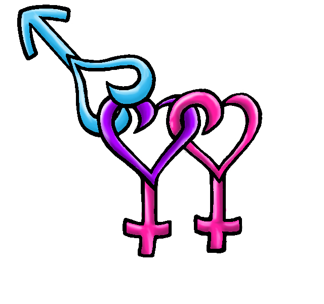 Bisexual Female Symbol By Emo Girl Alexauchiha On Deviantart
