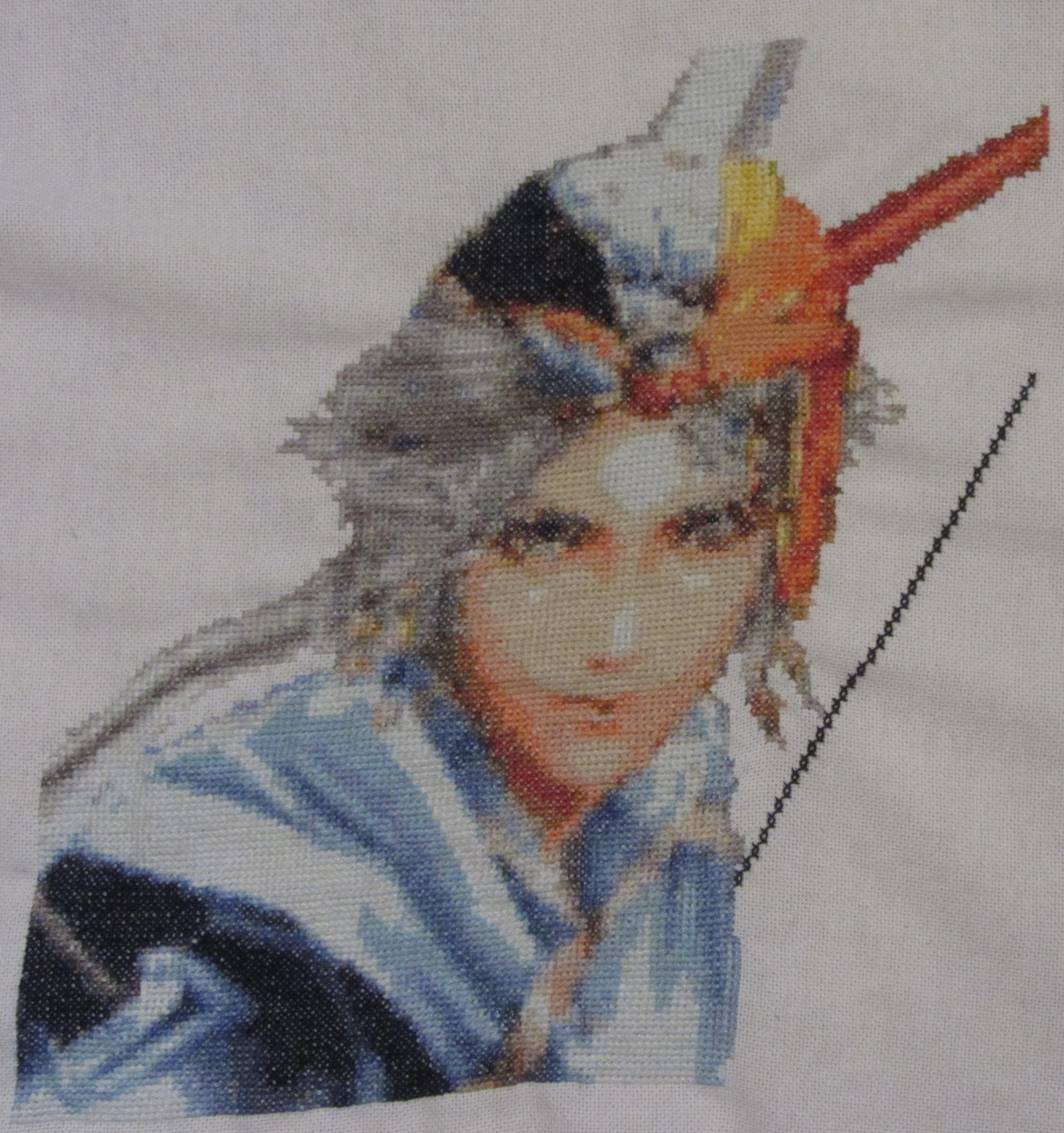 Firion (Final Fantasy II) - Cross Stitch by Melian-Vidumavi