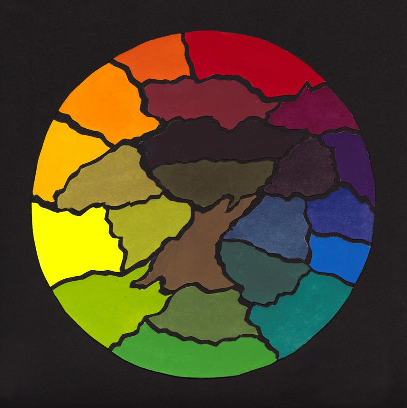 Color Wheel Tree Design By Nate2505 On DeviantArt