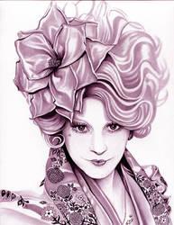 Effie Trinket  The Hunger Games  Magenta by TheNightGallery