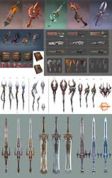 Hellgate:London- weapons props by HOON