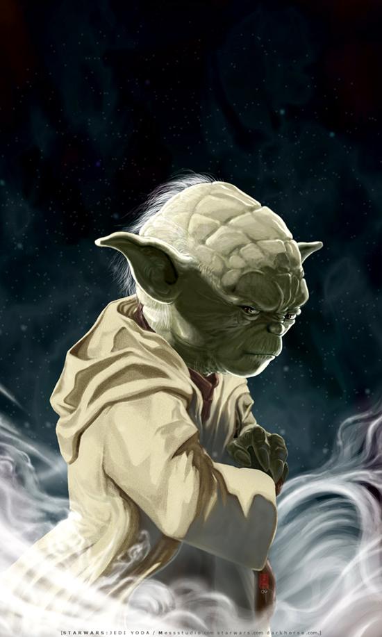 UNSHEATHED-a portrait of Yoda by HOON