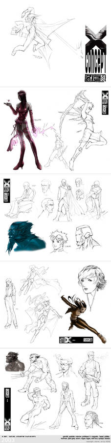 X MEN: Character concept
