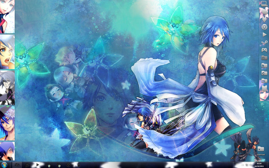 Aqua Wallpaper by SaenyanEin