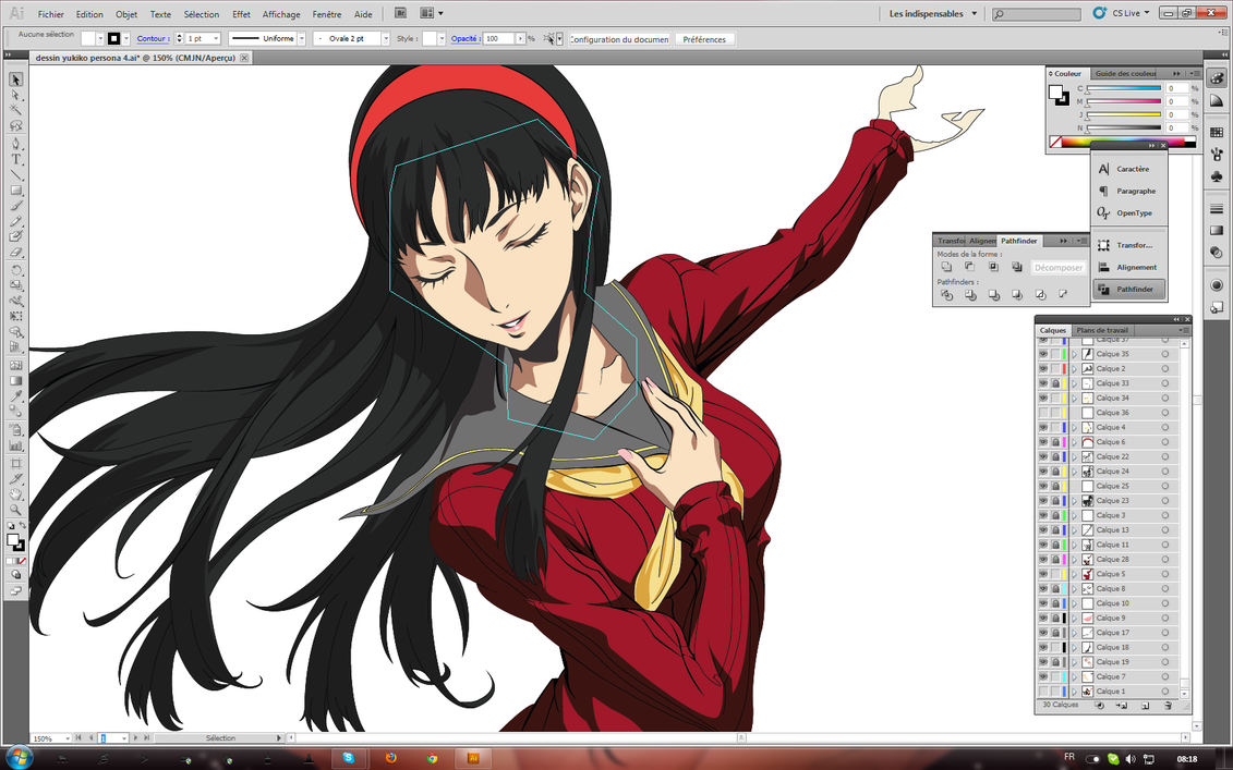 yukiko persona 4 illustrator ( work in progress) by ...
