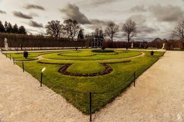 Schonbrunn Palace Garden part in Autumn
