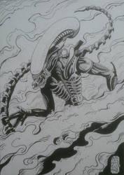 Alien commission 2017 by Solanum80