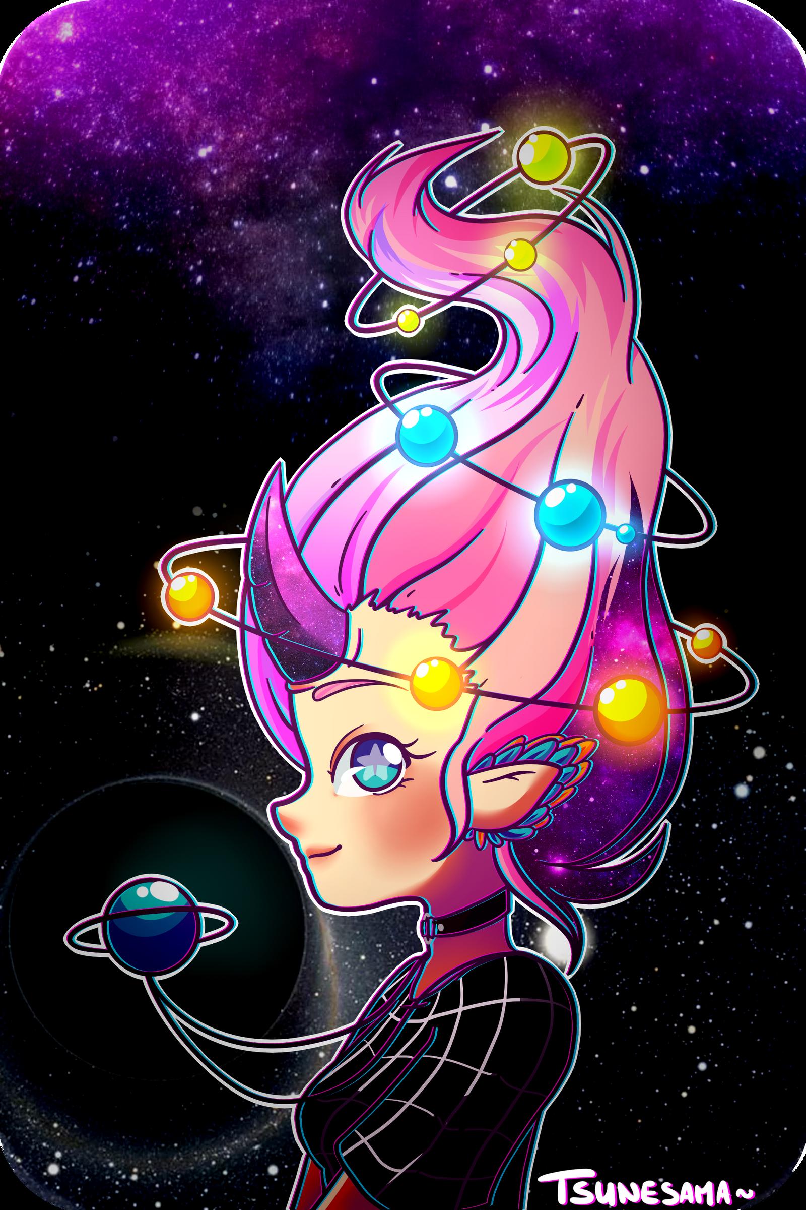 Space hair~ by Tsunesamaa