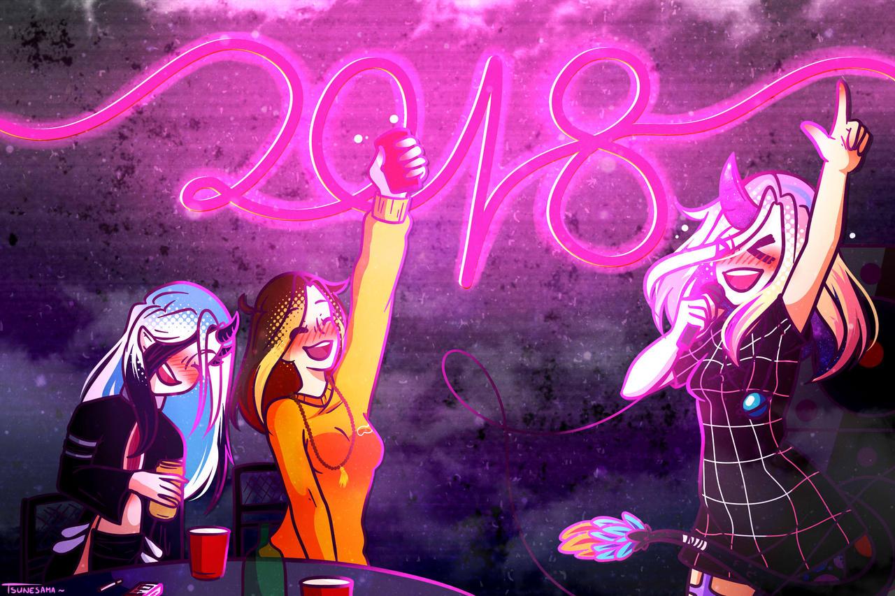 Happy New Year 2018 !~ by Tsunesamaa