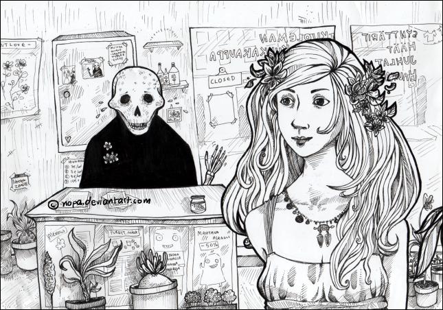 Romantiikkaa kukkakaupassa by Nopa
