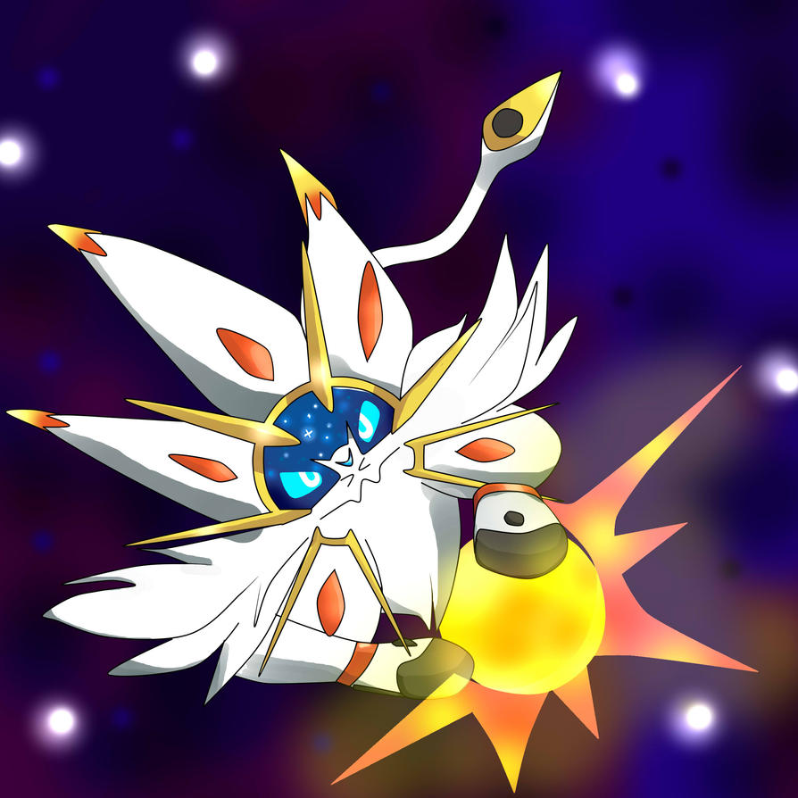 SOLGALEO PLAY WITH SUN by wolfythedemonflery